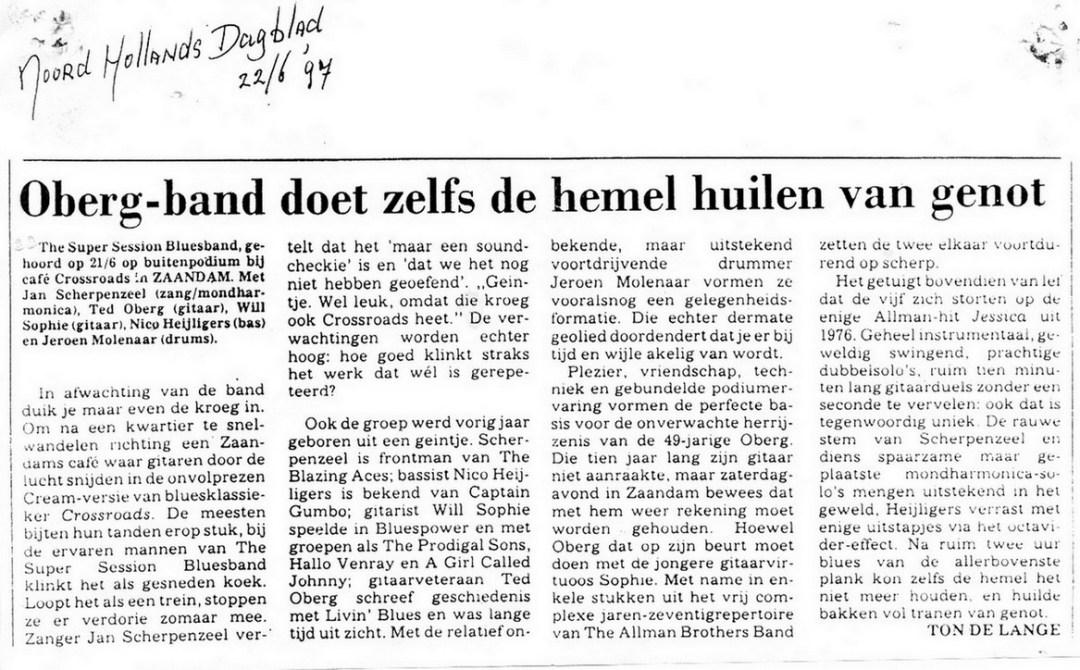 1997 Oberg recensie 22 juni 1997