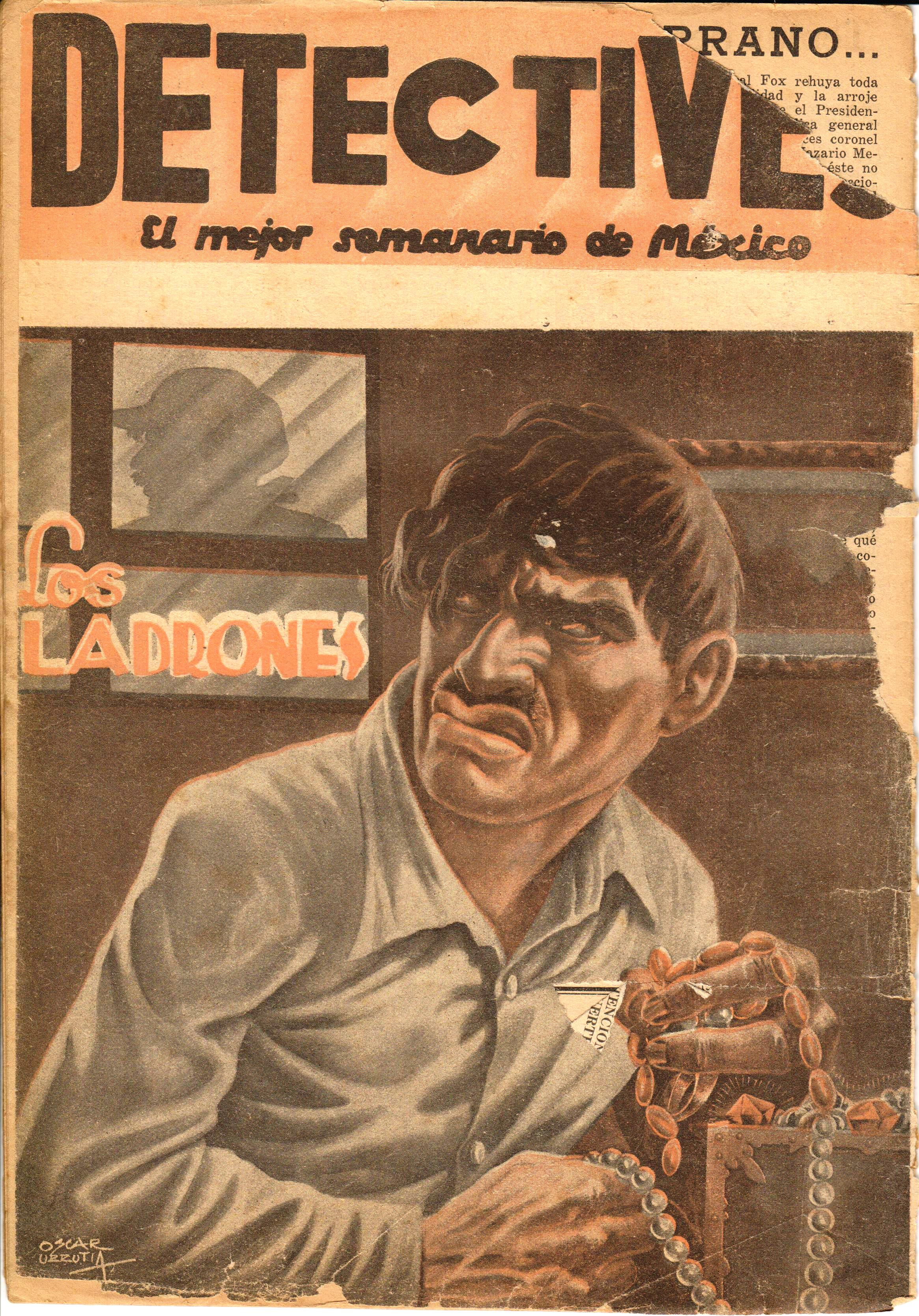 Mexico Detectives magazine 1930s 1960s