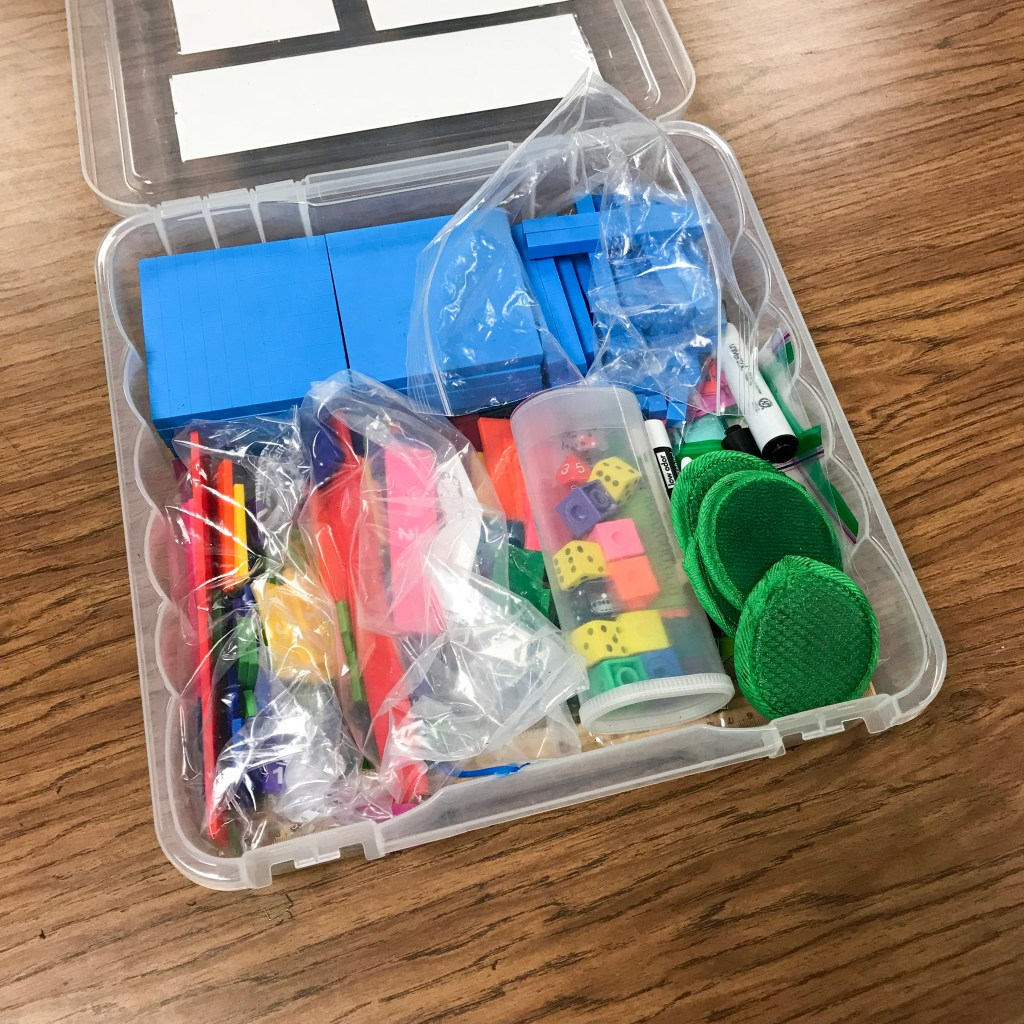 math manipulative toolbox for students