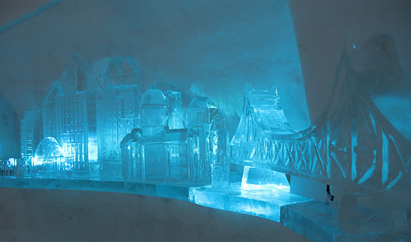 Montreals snow village and Pommery ice restaurant  Will