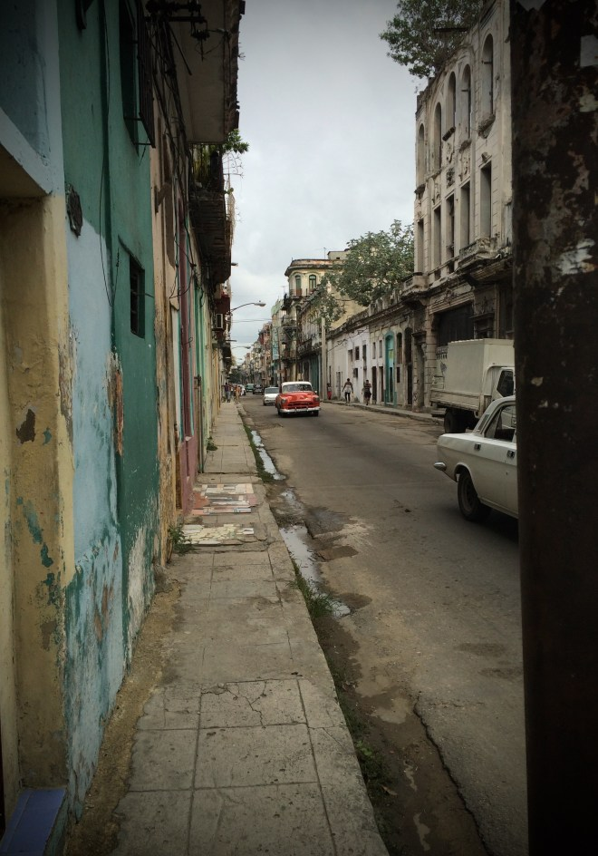 A Red Car in Matanzas