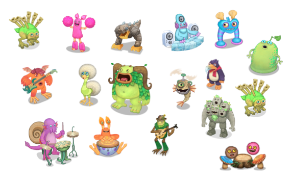 My Singing Monsters Wublin Characters