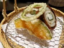 Tempura Course - pumpkin, pepper, eel roll
