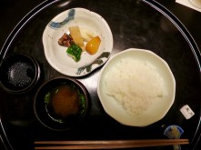 Shokuji Course - Rice, miso soup, and pickled veggies