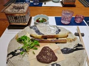Hiroshi Los Altos - A5 Waygu, white asparagus, truffle salt