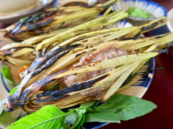 Nem sa nuong - grilled lemongrass pork rolls at Secret Garden
