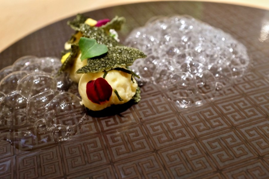 Chinese Sea Grass, passionfruit, mesquite bubbles