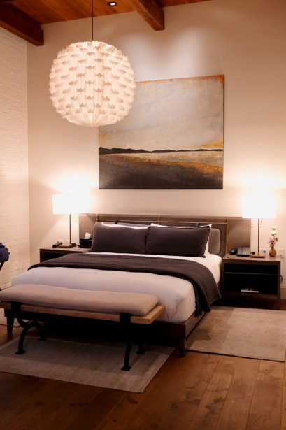 Singlethread Farm - Suite room. Lovely decor and the most comfortable Matouk sheets.