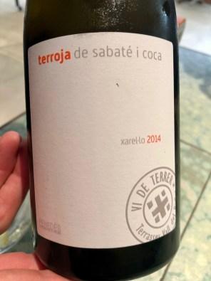 Disfrutar - Castellroig, Terroja de Sabaté i Coca Xarel-lo 2014,