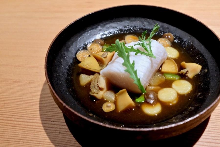 Maum - Sablefish (black cod), abalone, beech mushroom, rice cake, gochujang