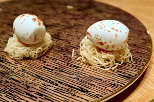 Gaggan at Eight Tables - Chilly Egg Nest