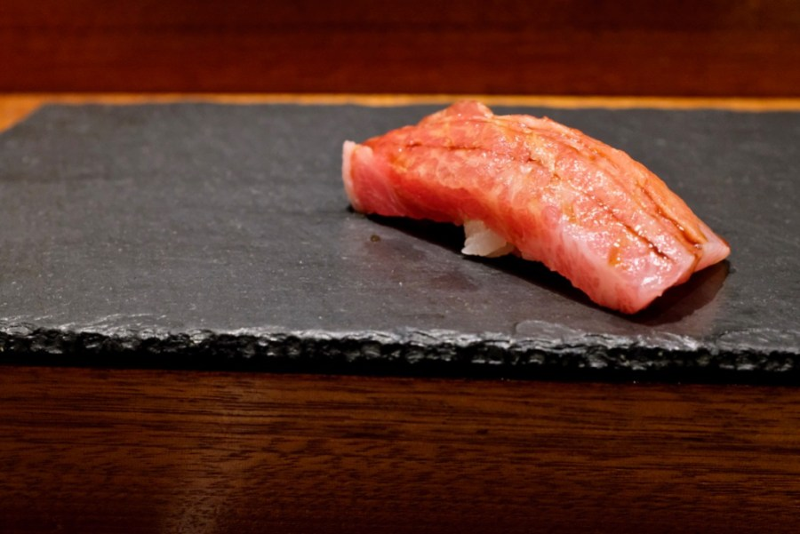 Kame Omakase - Kama toro (fattiest cut of bluefin tuna)