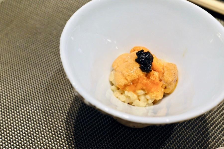Kame Omakase - Hoikkado Uni Risotto, Kelp, Japanese Rice