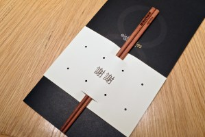 Gaggan at Eight Tables - Personalized chopsticks