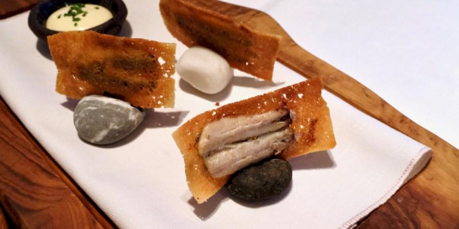 """Mikla - """"Balık Ekmek"""", sardine, buttered bread, lemon"""