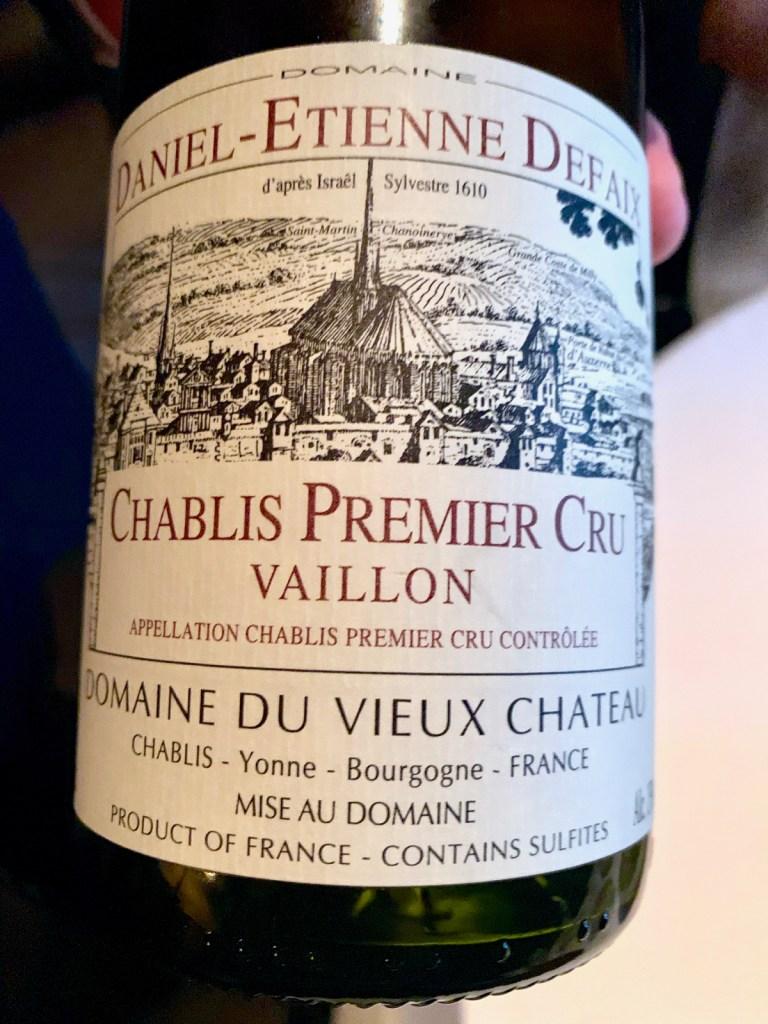 Quince SF - Daniel-Etienne Defaix, Chablis Premier Cru Vaillon 2005 - Burgandy, France