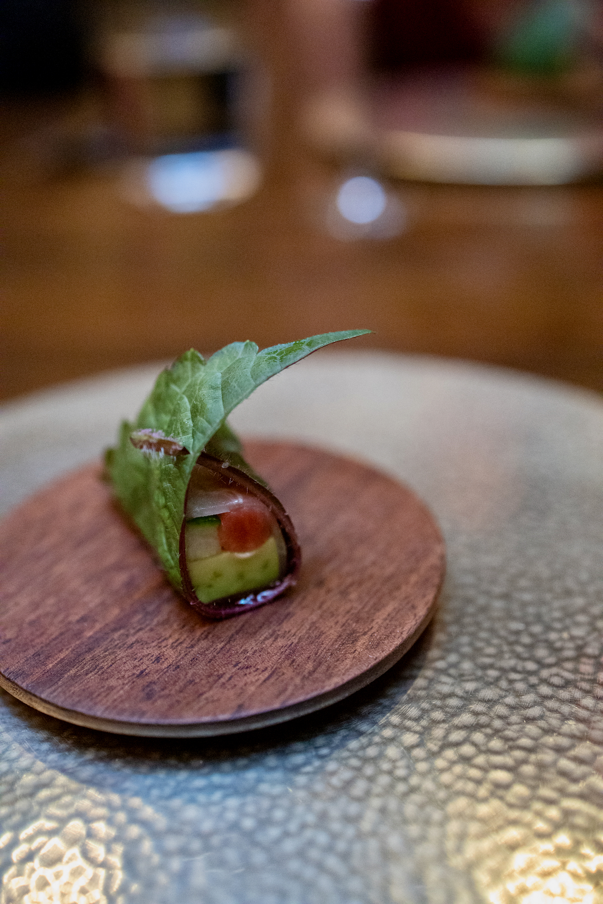 Benu - Avocado, daikon, salted plum