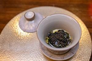 Benu - Seaweed egg custard, white sturgeon caviar
