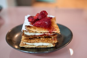 Birdsong Takeout - Strawberry mille-feuille - tonka bean, vanilla, fresh strawberries