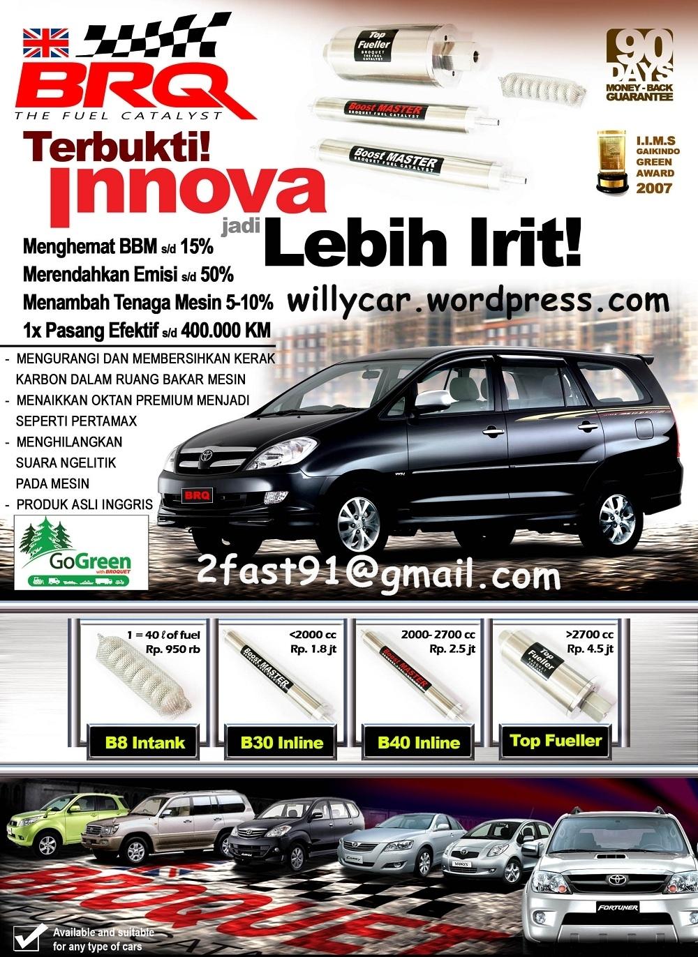 konsumsi bbm all new kijang innova diesel toyota yaris trd 2017 indonesia boros kurang tenaga saya ada solusinya drive by brosur depan edit harga
