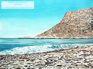 Stavros Beach Akrotiri, Willy Dorn, Kreta