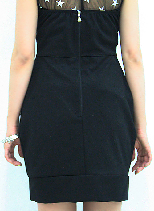 zipped back dress