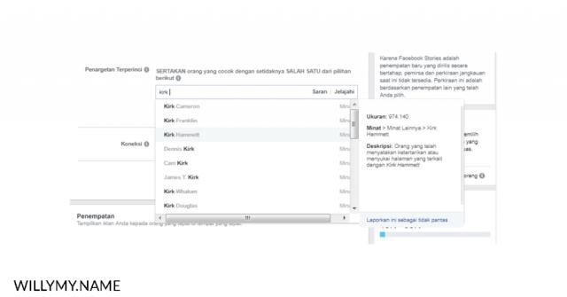 masih menyalahkan algoritma facebook ads - peminatan facebook ads berdasarkan nama tokoh copy