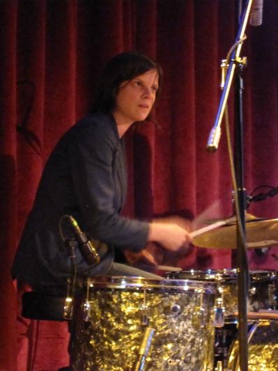 Drummer Kristin Mueller.