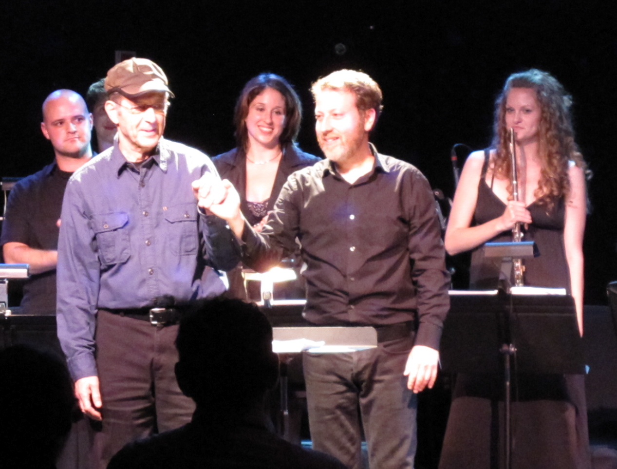 Composer Steve Reich and conductor Brad Lubman take their bows. (Copyright 2009, Steven P. Marsh)