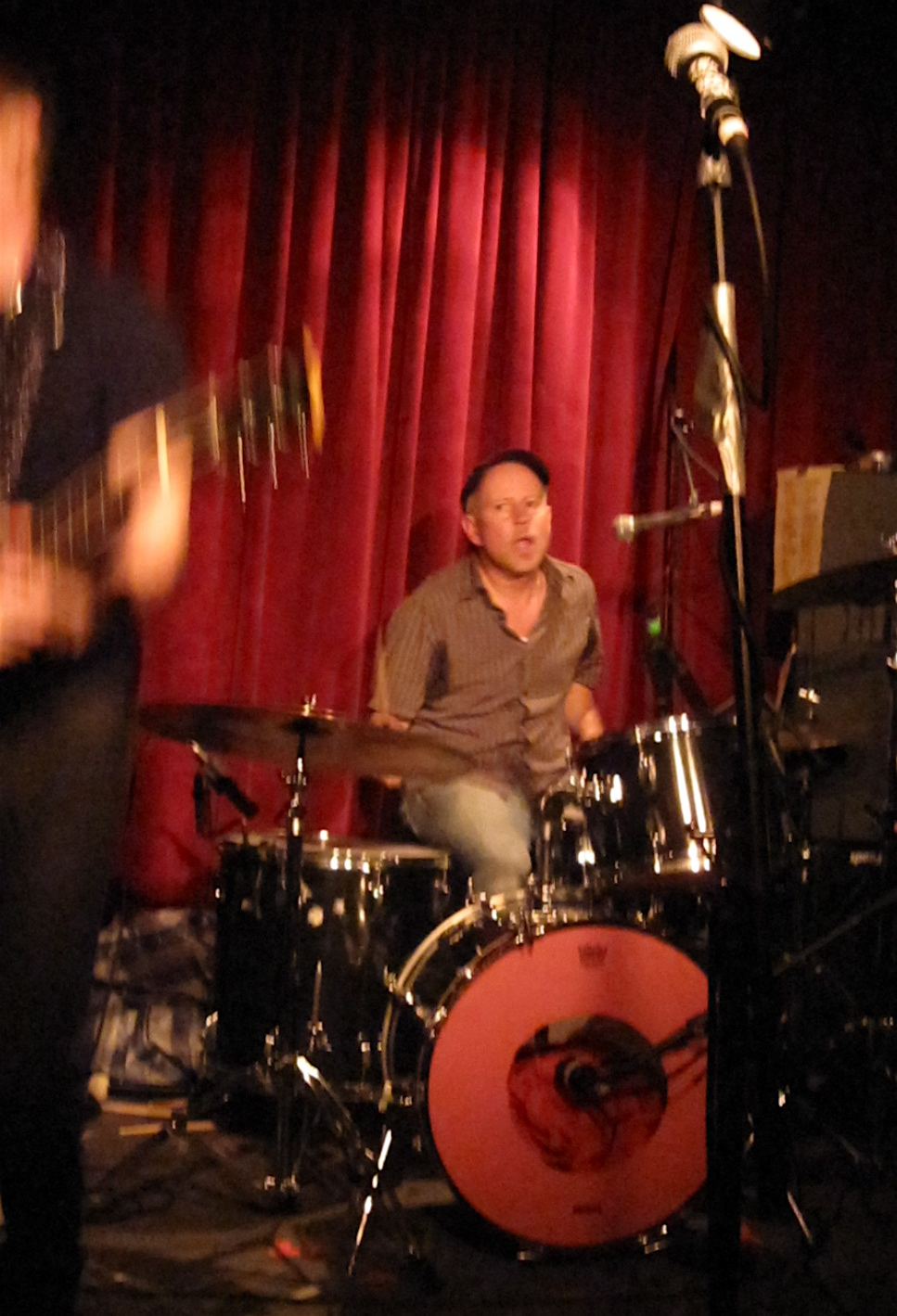 Frank Giannini on drums.