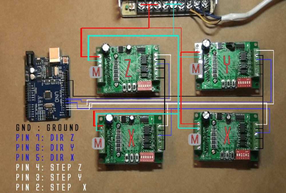 medium resolution of arduino and tb6560