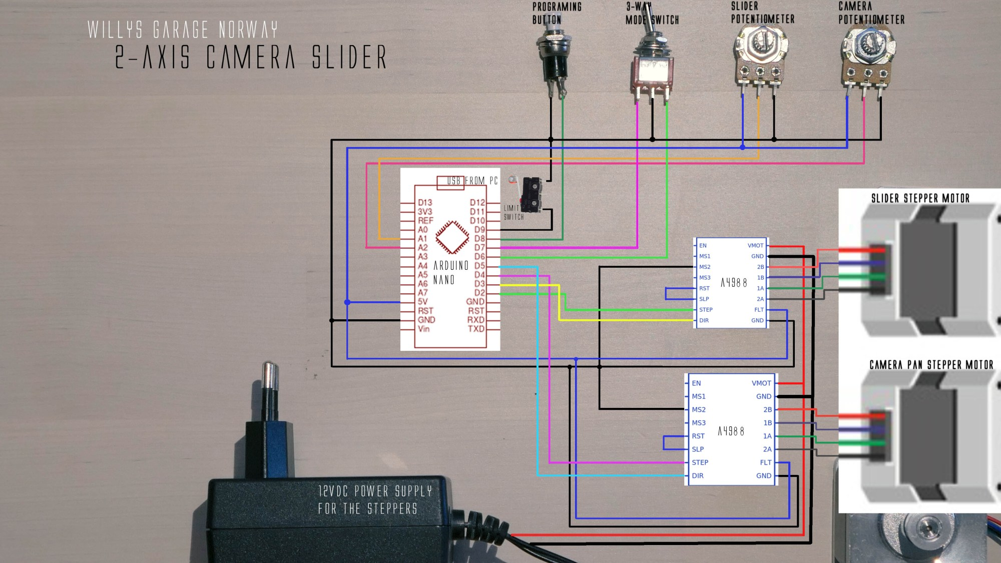 hight resolution of diagrams camera slider 2 axis cnc shield