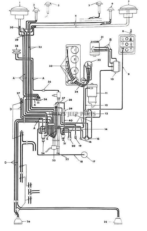 1951 Willys Jeep Ignition Wiring Diagram. Jeep. Auto