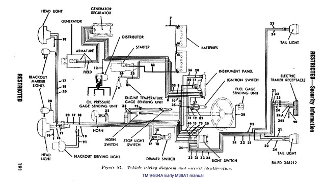 M38a1 Light Switch Diagram, M38a1, Free Engine Image For