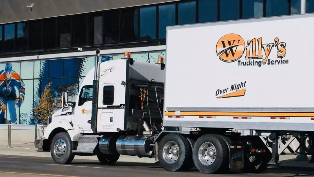 Company Truck In Front Of Arena