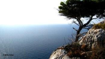 Acantilados costeros en la costa oeste. Dugi Otok. Dalmacia. Croacia.
