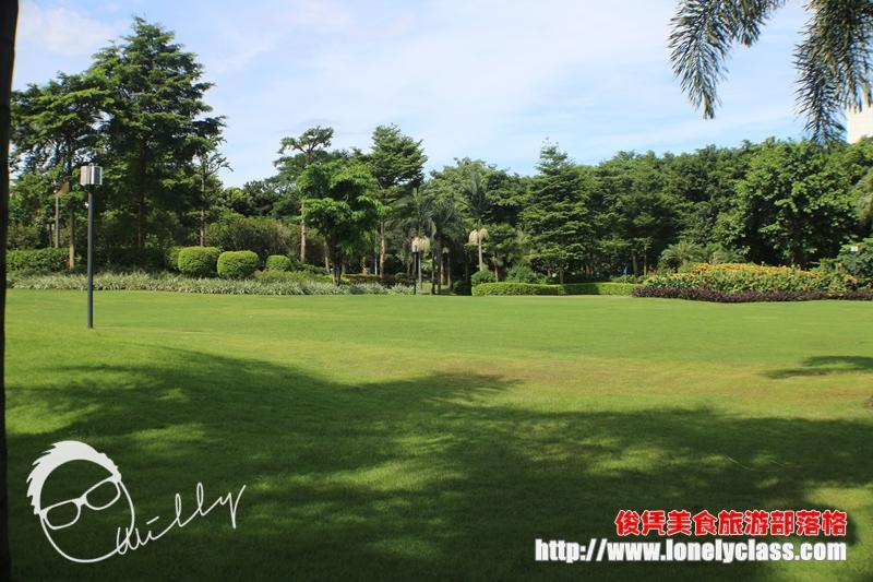 一大片的草坪,叫人心旷神怡。
