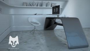 Desk: Cygnus Black Chair: Stream Designer: Wilmer Chaca © All rights reserved.