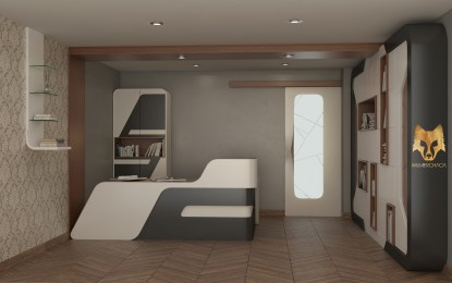 Counter, bookcase,filecabinet, door, shelf: Causeway Designer: Wilmer Chaca © All rights reserved.