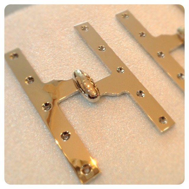 hand hammered olive knuckle hinge