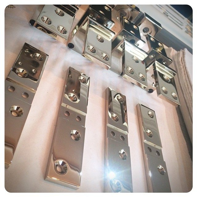 harmon hinge assembly | polished nickel