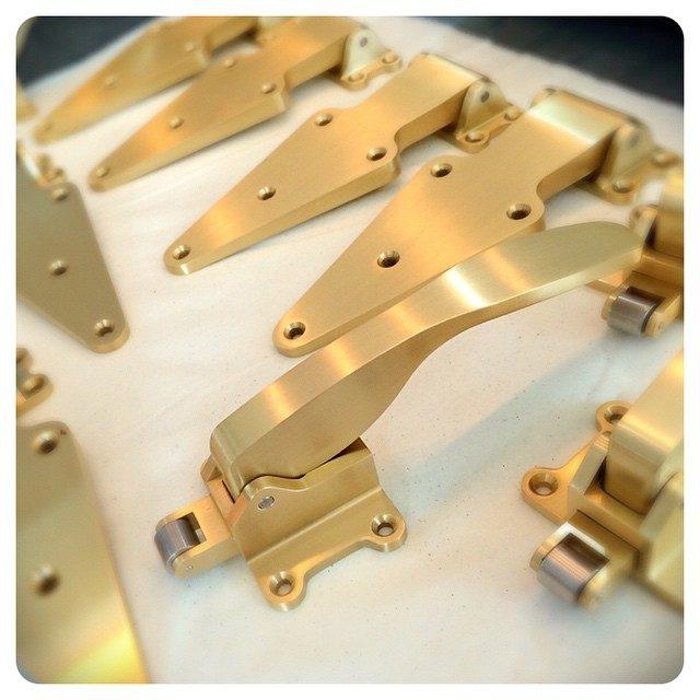 amazing ice box hardware in satin brass