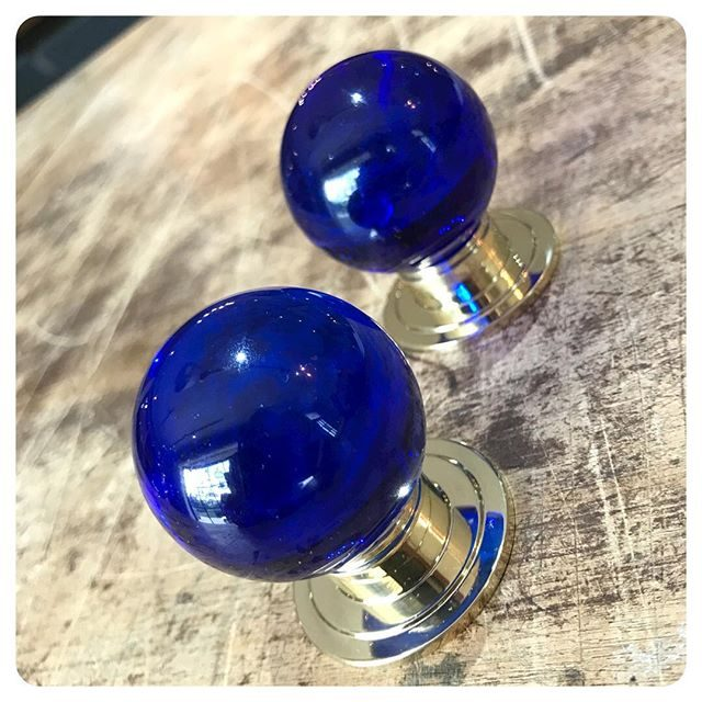 amazing new cobalt blue crystal knobs