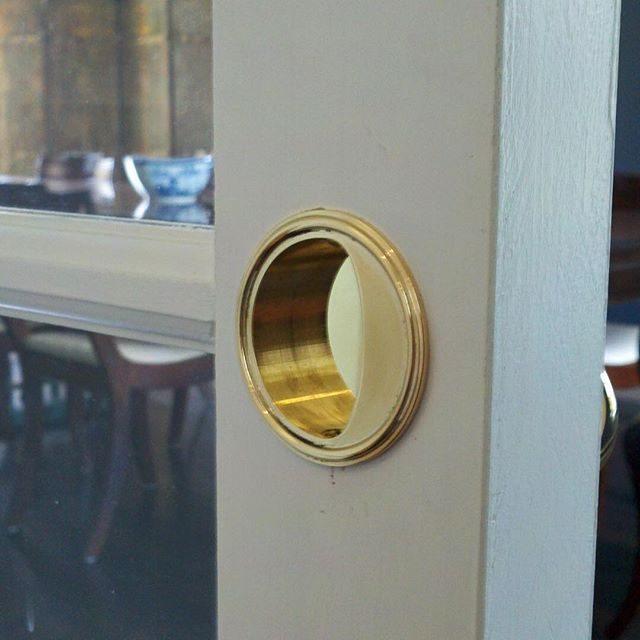 un-lacquered brass flush pull