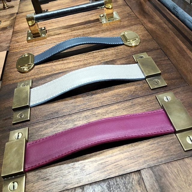 mod leather pulls with client supplied leather