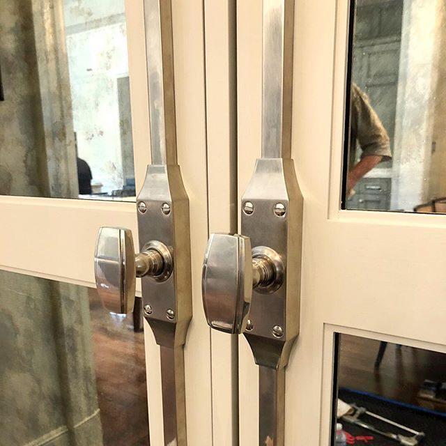wilmette Cremone hardware in burnished nickel