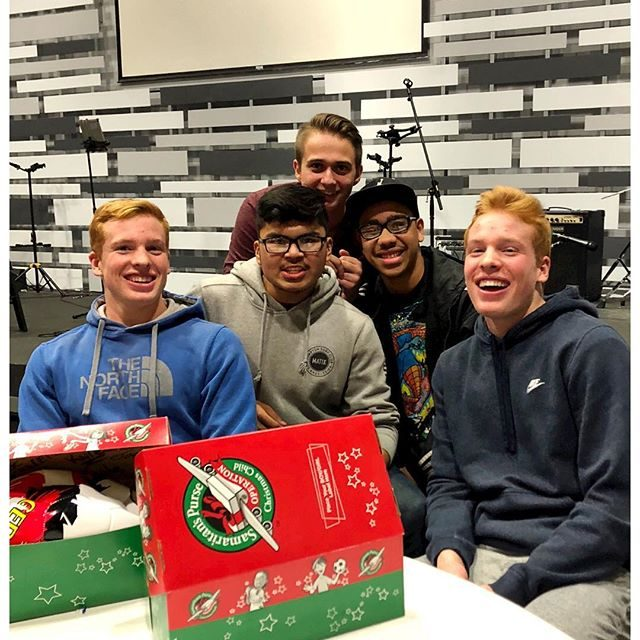 operation Christmas  child with my small group