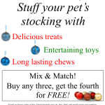Stuff your pet's stocking!