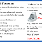 Get your cats and dogs drinking more with our pet fountain specials