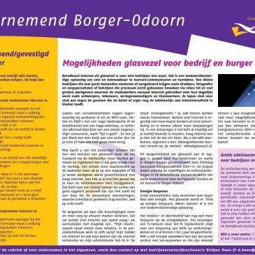 Ondernemend Borger-Odoorn voor breedband internet via glasvezel